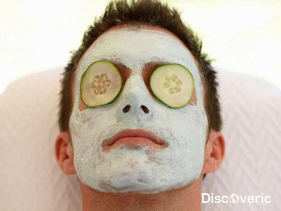 Spa facial man