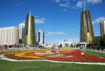 Водно-зеленый бульвар (Круглая площадь), Астана, Казахстан